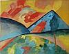 Alexej VON JAWLENSKY  gouache on paper signed painting, Alexei Jawlensky, $1,000