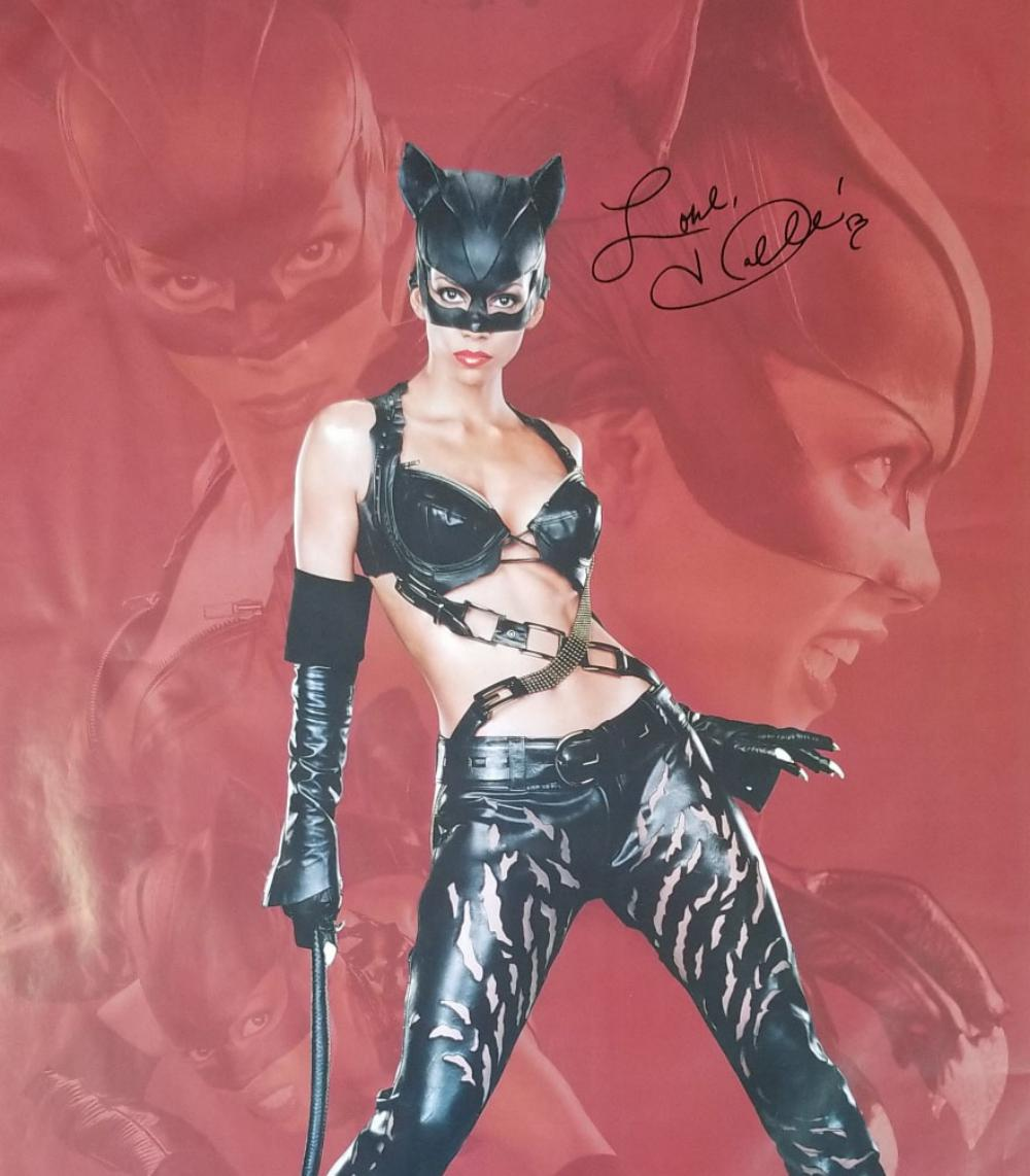 Catwoman Halle Berry Hand Signed Movie Poster