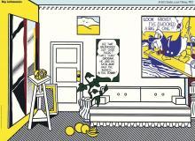 ROY LICHTENSTEIN Artists Studio Look Mickey,unsigned offset lithograph