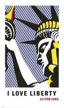 Roy Lichtenstein I LOVE LIBERTY 1982 offset lithograph