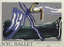 ROY LICHTENSTEIN NYCB American Music Festival Poster 1988 offset lithograph