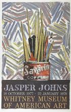 JASPER JOHNS  Savarin, (Whitney Museum of American Art), 1977; Lithograph