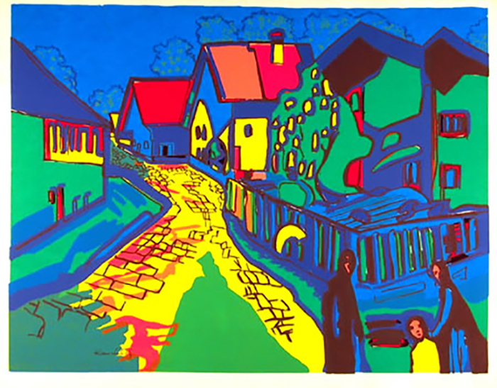 Wassily Kandinsky, After, City Street, Lithograph