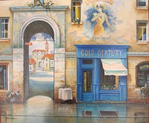 Alexander Borewko Original Oil Stretched Canvas