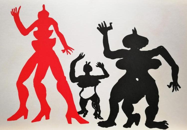 Alexander Calder 3 Figures Limited Edition Lithograph