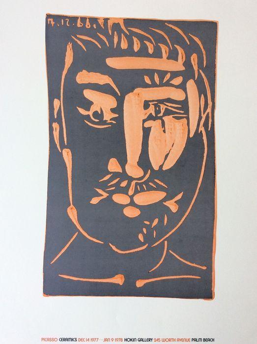Hokin Gallery - Picasso Ceramics - A Rare Exhibition poster 1977/1978