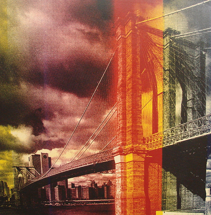 Steve Kaufman, Title: Brooklyn Bridge, serigraph on canvas HS/N