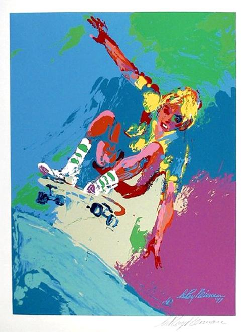 """Neiman """"Skateboarder Boy"""" serigraph signed in the plate"""