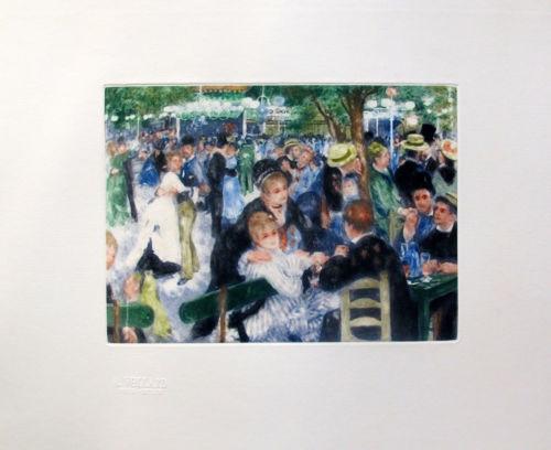 Pierre Auguste Renoir LE MOULIN DE LA GALETTE Etching Ambroise Vollard Estate