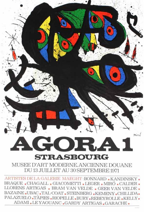Joan Miro - Agora 1 - RARE MIRO ART POSTER PRINT