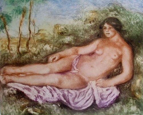 Pierre-Auguste Renoir FEMME NUE ETENDUE Etching Ambroise Vollard Estate Etching