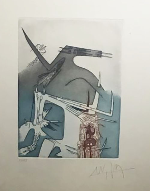 Wifredo Lam Etching hand signed and numbered