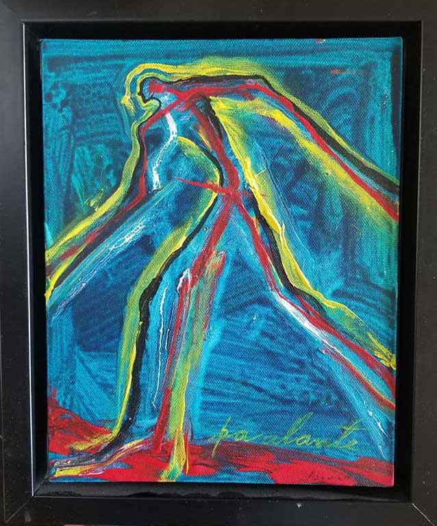 Jose Bedia, Original acrylic on carboard 2015 hand signed, coa from the artist