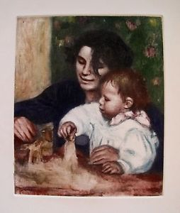 Pierre-Auguste Renoir Etching GABRIELLE ET JEAN Ambroise Vollard Estate