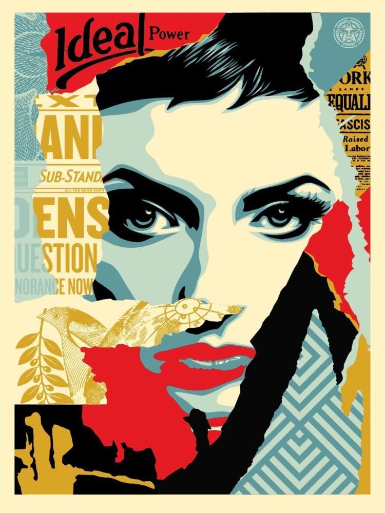 Shepard Fairey - Obey We the People, Ideal Power Screen Print HS/N