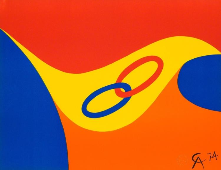 Alexander Calder, Friendship (1974) Lithograph