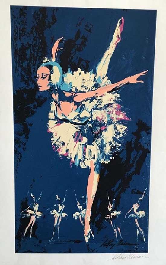 Leroy Neiman Prima Ballerina Hand signed Serigraph O/E