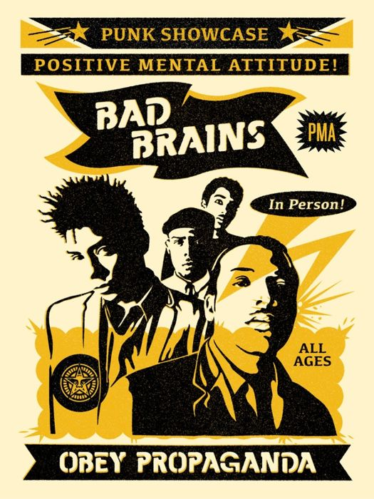 Shepard Fairey (OBEY) - Bad Brains silkscreen HS/N