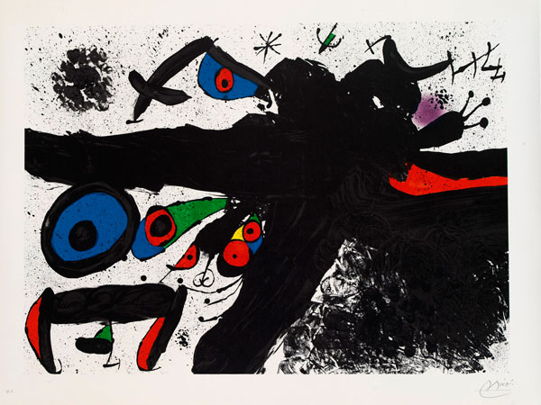Joan Miró (Spanish, 1893–1983), Homenatge a Joan Prats, 1971 Lithograph signed/no.