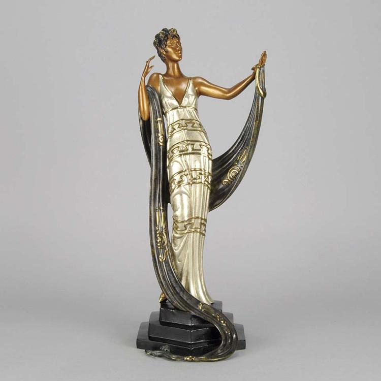 Erté Cold Painted Bronze Sculpture: La Coquette Signed and numbered 18K list
