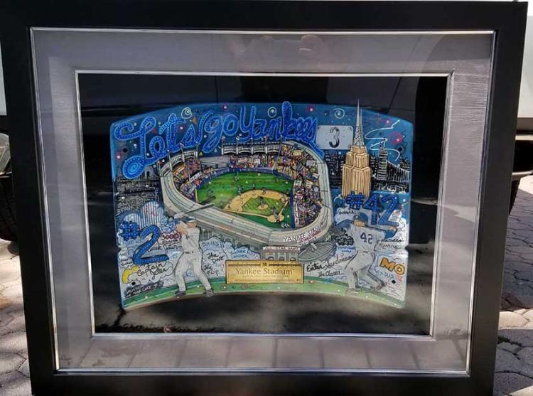 Charles Fazzino Yankees Jeter Seat original Signed, Jeter-Rivera-Fazzino