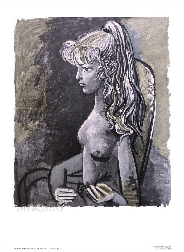 Pablo Picasso, Sylvette au Fauteuil, Lithograph