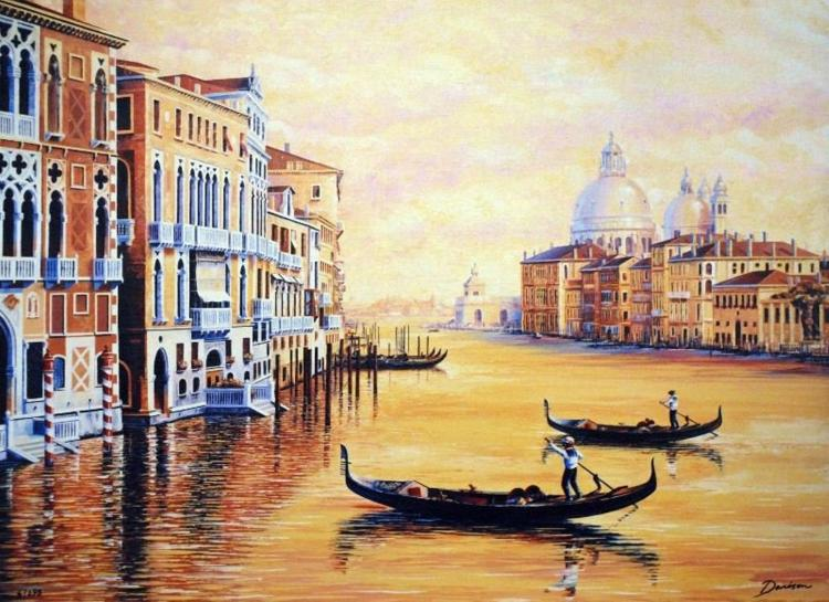 Reflections of Venice by Graham Denison - Giclee Canvas