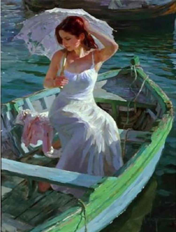 Vladimir Volegov Lakeside Reflection, Giclee hand S/N