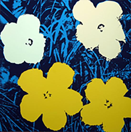 ANDY WARHOL FLOWERS 11.72 SERIGRAPH SUNDAY B. MORNING