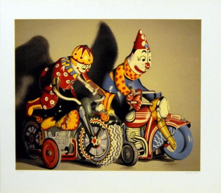 Charles Bell HOT PURSUIT color Giclee on thick paper