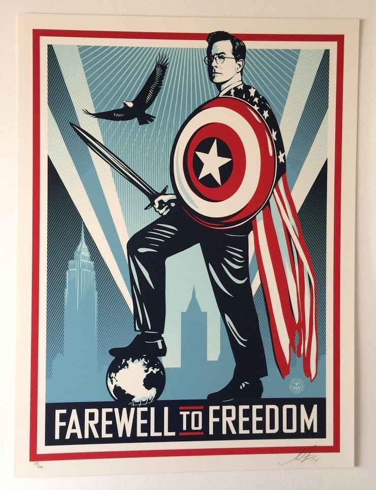 Shepard Fairey Obey Farewell to Freedom 18x24 SIGNED #150
