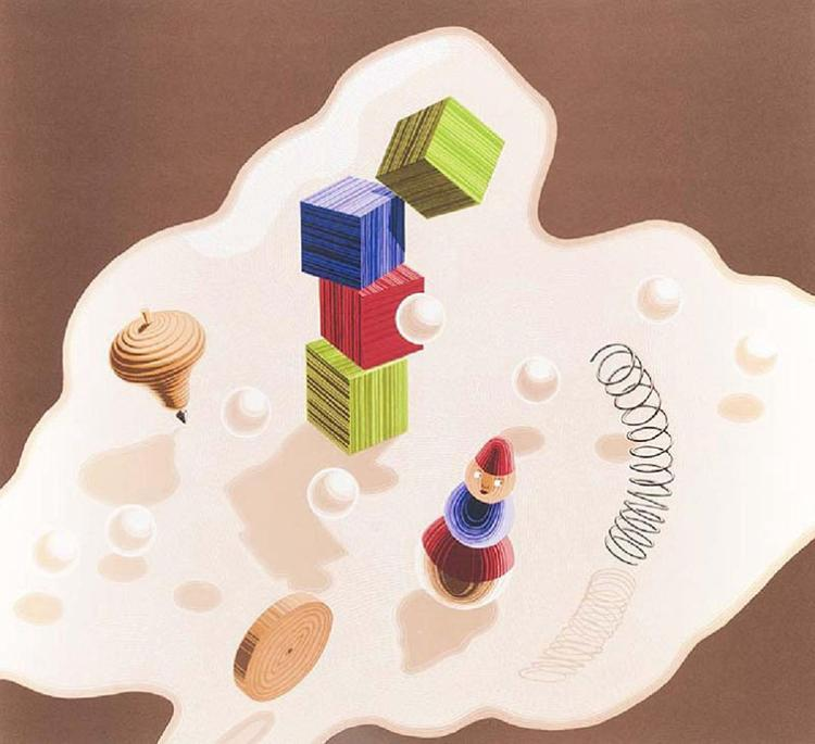 Vasarely, Victor untitled, toys 1986 lithograph, from