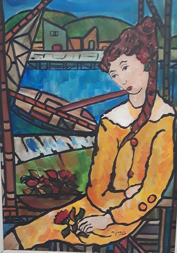 Jose Maria Mijares Oil on canvas framed, Cuban Latin America, COA Foundation