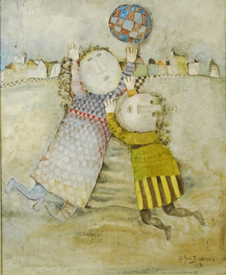 Boulanger Graciela Rodo, Jour d'hiver 1971, oil on