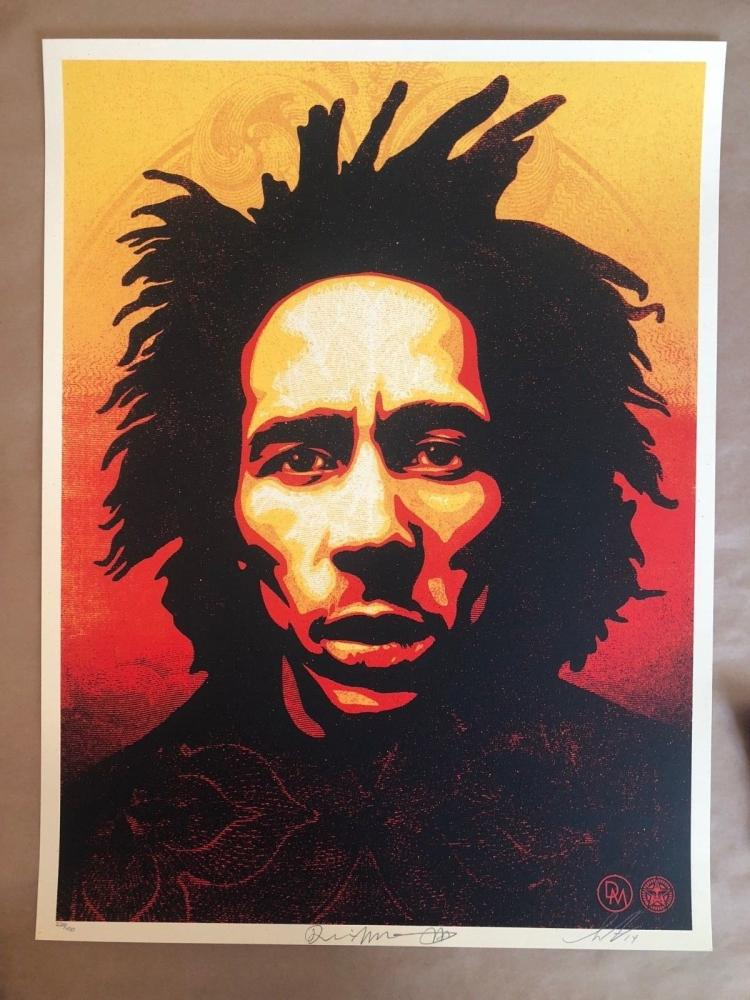 Shepard Fairey Bob Marley 2014 Signed and Numbered Dennis Morris