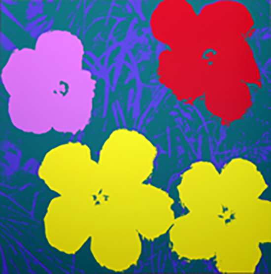 ANDY WARHOL FLOWERS 11.65 SERIGRAPH SUNDAY B. MORNING