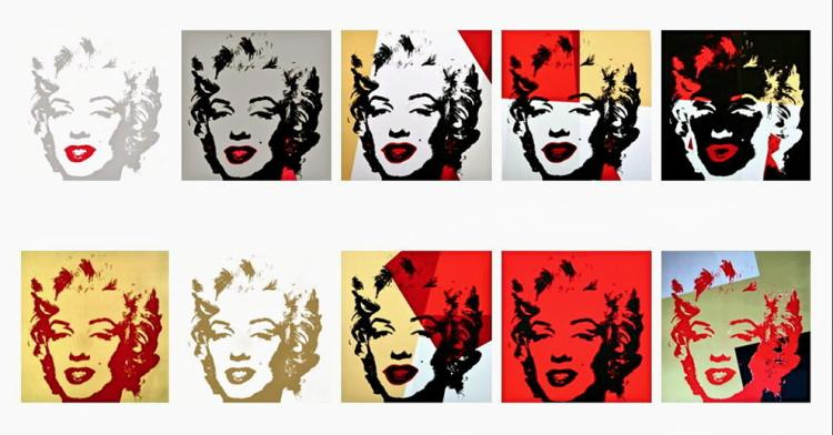 Andy Warhol Golden Marilyn Suite (Sunday B. Morning),