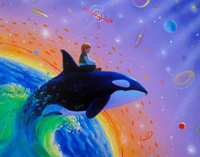 Charles Lynn Bragg ORCA SPACE JUMP Hand Signed Giclee