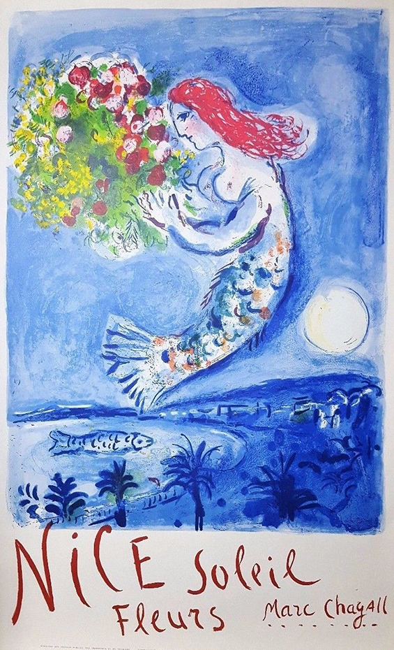 Marc Chagall (1887-1985), NICE SOLEIL FLEURS, lithograph in colours, 1962