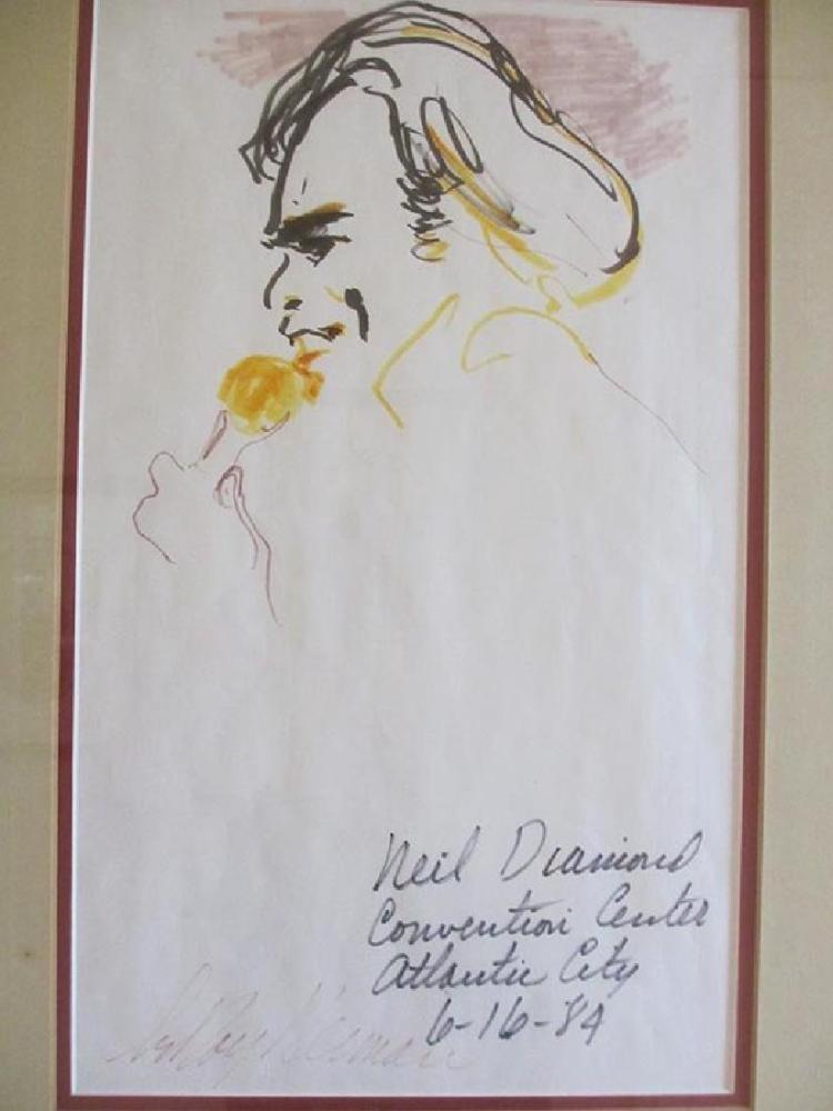 Leroy Neiman Original Pen & Ink Signed