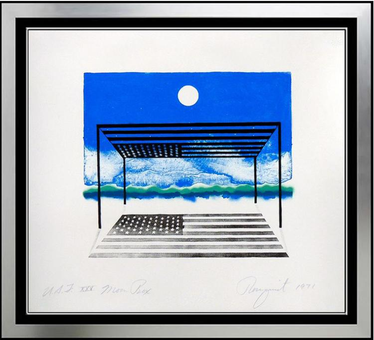 James Rosenquist, Moonbox Lithograph signed and