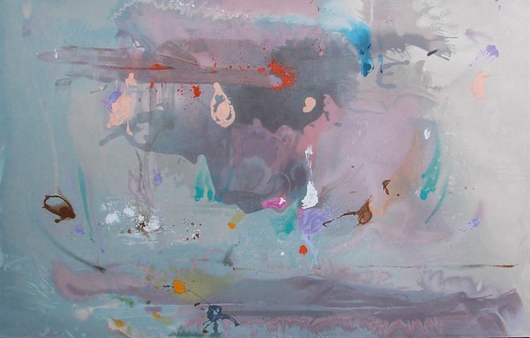 HELEN FRANKENTHALER, Grey Fireworks, 2000 Serigraph