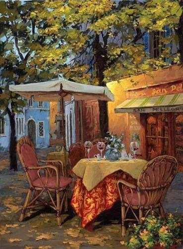 Viktor Shvaiko Piazza Di Viterbo HS# Embellished giclee