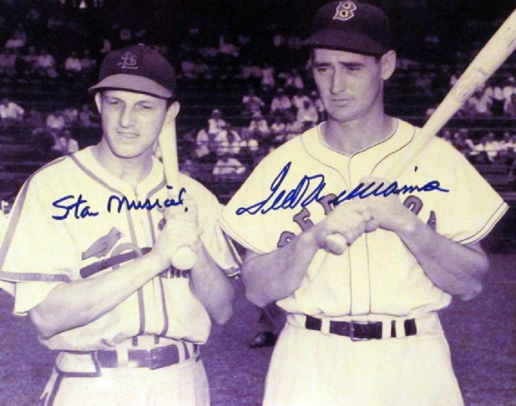 memorabilia Ted Williams and Stan Musial Double