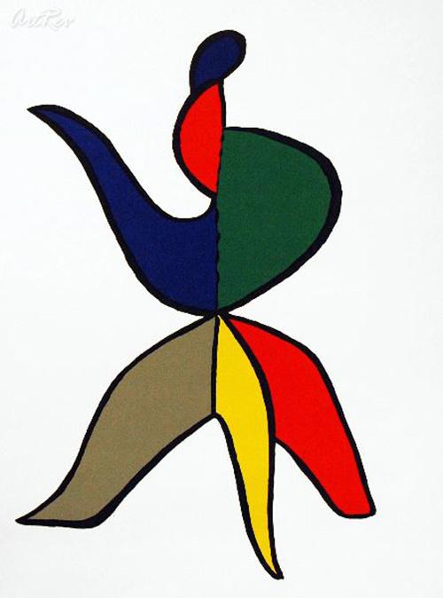 Alexander Calder, Untitled - Original Lithograph 1960's