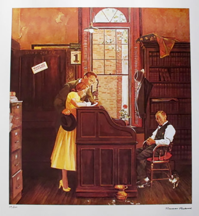Norman Rockwell Faxs. Signed L/E Lithograph