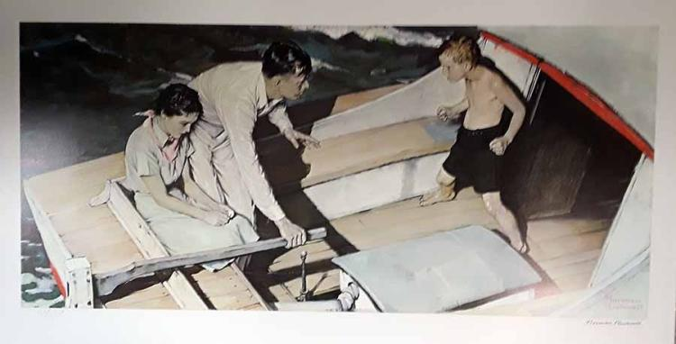 Norman Rockwell Limited Edition Faxcim. Signed