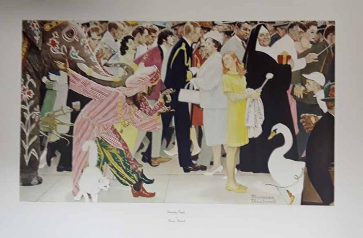 Norman Rockwell Saturday People Vintage Original Ltd Ed
