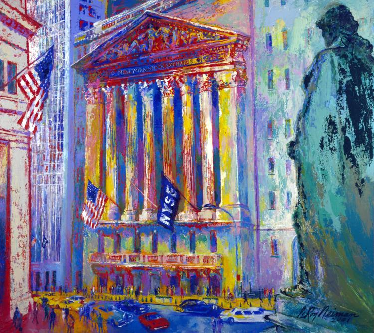 Leroy Neiman Hand S/N New York Stock Exchange serigraph
