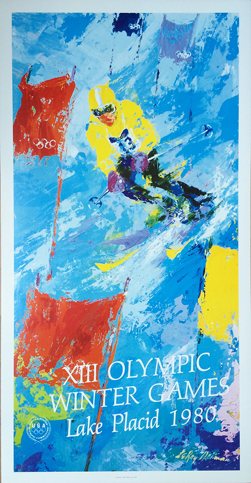 Leroy Neiman, Olympic Games Skier Hand Signed offset